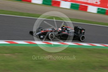 World © Octane Photographic Ltd. McLaren Honda MP4/30 - Jenson Button. Saturday 26th September 2015, F1 Japanese Grand Prix, Qualifying, Suzuka. Digital Ref: