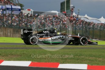 World © Octane Photographic Ltd. Sahara Force India VJM08B – Sergio Perez. Saturday 26th September 2015, F1 Japanese Grand Prix, Qualifying, Suzuka. Digital Ref: