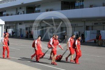 World © Octane Photographic Ltd. 09:00hrs end of pit curfew. Saturday 26th September 2015, F1 Japanese Grand Prix, Paddock, Suzuka. Digital Ref: 1445CB5D1779