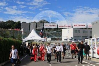 World © Octane Photographic Ltd. 09:00hrs end of pit curfew. Saturday 26th September 2015, F1 Japanese Grand Prix, Paddock, Suzuka. Digital Ref: 1445CB7D6275