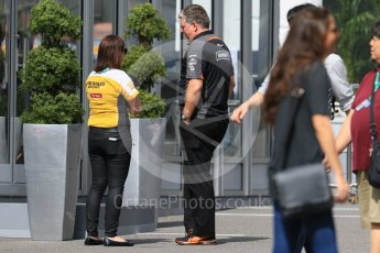 World © Octane Photographic Ltd. Renault and Force India in the paddock. Saturday 26th September 2015, F1 Japanese Grand Prix, Paddock, Suzuka. Digital Ref: 1445CB7D6357