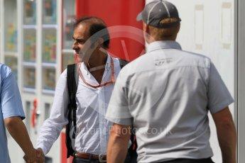 World © Octane Photographic Ltd. Emanuele Pirro in the paddock. Saturday 26th September 2015, F1 Japanese Grand Prix, Paddock, Suzuka. Digital Ref: 1445CB7D6371