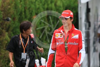 World © Octane Photographic Ltd. Scuderia Ferrari SF15-T– Esteban Gutierrez. Sunday 27th September 2015, F1 Japanese Grand Prix, Setup, Suzuka. Digital Ref: 1448CB7D7621