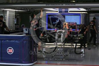 World © Octane Photographic Ltd. Infiniti Red Bull Racing RB11 of Daniil Kvyat fully rebuilt. Sunday 27th September 2015, F1 Japanese Grand Prix, Setup, Suzuka. Digital Ref: 1448LB1D3782