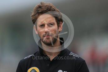 World © Octane Photographic Ltd. Lotus F1 Team E23 Hybrid – Romain Grosjean. Sunday 27th September 2015, F1 Japanese Grand Prix, Setup, Suzuka. Digital Ref: 1448LB1D4018
