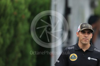 World © Octane Photographic Ltd. Lotus F1 Team E23 Hybrid – Pastor Maldonado. Sunday 27th September 2015, F1 Japanese Grand Prix, Setup, Suzuka. Digital Ref: 1448LB1D4207