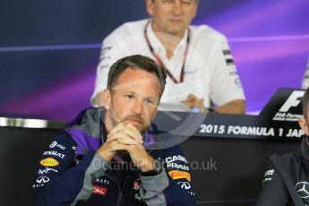 World © Octane Photographic Ltd. Team Personnel Press Conference. Friday 25th September 2015, F1 Japanese Grand Prix, Suzuka. Christian Horner – Infiniti Red Bull Racing team principle. Digital Ref: 1444CB7D6127