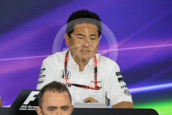 World © Octane Photographic Ltd. Team Personnel Press Conference. Friday 25th September 2015, F1 Japanese Grand Prix, Suzuka. Yasuhisa Arai - Honda Head of Motorsport. Digital Ref: 1444CB7D6138