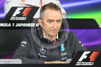 World © Octane Photographic Ltd. Team Personnel Press Conference. Friday 25th September 2015, F1 Japanese Grand Prix, Suzuka. Paddy Lowe - Mercedes AMG Petronas Executive Director. Digital Ref: 1444CB7D6234
