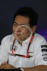 World © Octane Photographic Ltd. Team Personnel Press Conference. Friday 25th September 2015, F1 Japanese Grand Prix, Suzuka. Yasuhisa Arai - Honda Head of Motorsport. Digital Ref: 1444LB1D1944