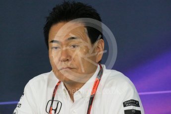 World © Octane Photographic Ltd. Team Personnel Press Conference. Friday 25th September 2015, F1 Japanese Grand Prix, Suzuka. Yasuhisa Arai - Honda Head of Motorsport. Digital Ref: 1444LB1D2032
