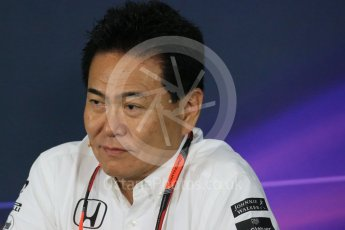 World © Octane Photographic Ltd. Team Personnel Press Conference. Friday 25th September 2015, F1 Japanese Grand Prix, Suzuka. Yasuhisa Arai - Honda Head of Motorsport. Digital Ref: 1444LB1D2074