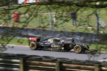 World © Octane Photographic Ltd. Lotus F1 Team E23 Hybrid - Romain Grosjean. Lotus filming day at Brands Hatch. Digital Ref: 1238LB1D5067