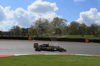 World © Octane Photographic Ltd. Lotus F1 Team E23 Hybrid - Romain Grosjean. Lotus filming day at Brands Hatch. Digital Ref: 1238LB1D5165