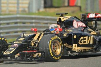 World © Octane Photographic Ltd. Lotus F1 Team E23 Hybrid - Romain Grosjean. Lotus filming day at Brands Hatch. Digital Ref: 1238LW1L5058
