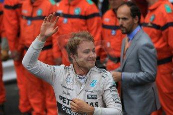 World © Octane Photographic Ltd. Mercedes AMG Petronas F1 W06 Hybrid – Nico Rosberg. Sunday 24th May 2015, F1 Race - Podium, Monte Carlo, Monaco. Digital Ref: 1287CB7D8027