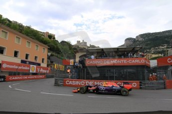 World © Octane Photographic Ltd. Infiniti Red Bull Racing RB11 – Daniil Kvyat. Thursday 21st May 2015, F1 Practice 2, Monte Carlo, Monaco. Digital Ref: 1274CB1L9870