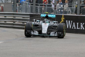 World © Octane Photographic Ltd. Mercedes AMG Petronas F1 W06 Hybrid – Nico Rosberg. Thursday 21st May 2015, F1 Practice 2, Monte Carlo, Monaco. Digital Ref: 1274CB7D3280