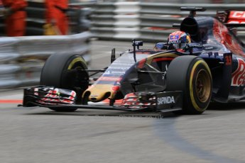 World © Octane Photographic Ltd. Scuderia Toro Rosso STR10 – Max Verstappen. Thursday 21st May 2015, F1 Practice 2, Monte Carlo, Monaco. Digital Ref: 1274CB7D3418