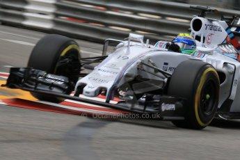 World © Octane Photographic Ltd. Williams Martini Racing FW37 – Felipe Massa. Thursday 21st May 2015, F1 Practice 2, Monte Carlo, Monaco. Digital Ref: 1274CB7D3443