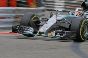 World © Octane Photographic Ltd. Mercedes AMG Petronas F1 W06 Hybrid – Lewis Hamilton. Thursday 21st May 2015, F1 Practice 2, Monte Carlo, Monaco. Digital Ref: 1274CB7D3518