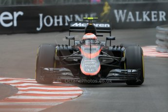 World © Octane Photographic Ltd. McLaren Honda MP4/30 - Jenson Button. Thursday 21st May 2015, F1 Practice 2, Monte Carlo, Monaco. Digital Ref: 1274CB7D3578