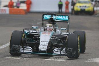 World © Octane Photographic Ltd. Mercedes AMG Petronas F1 W06 Hybrid – Lewis Hamilton. Thursday 21st May 2015, F1 Practice 2, Monte Carlo, Monaco. Digital Ref: 1274CB7D3603