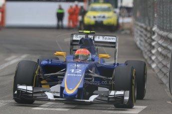 World © Octane Photographic Ltd. Sauber F1 Team C34-Ferrari – Felipe Nasr. Thursday 21st May 2015, F1 Spanish GP Formula 1 Practice 2. Monte Carlo, Monaco. Digital Ref: 1274CB7D3656