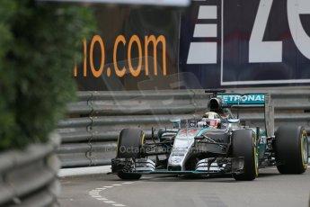 World © Octane Photographic Ltd. Mercedes AMG Petronas F1 W06 Hybrid – Lewis Hamilton. Thursday 21st May 2015, F1 Practice 2, Monte Carlo, Monaco. Digital Ref: 1274LB1D3909