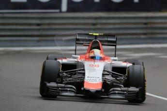 World © Octane Photographic Ltd. Manor Marussia F1 Team MR03 – Roberto Merhi. Thursday 21st May 2015, F1 Practice 2, Monte Carlo, Monaco. Digital Ref: 1274LB1D3964