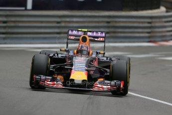 World © Octane Photographic Ltd. Infiniti Red Bull Racing RB11 – Daniil Kvyat. Thursday 21st May 2015, F1 Practice 2, Monte Carlo, Monaco. Digital Ref: 1274LB1D4041