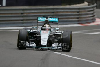 World © Octane Photographic Ltd. Mercedes AMG Petronas F1 W06 Hybrid – Lewis Hamilton. Thursday 21st May 2015, F1 Practice 2, Monte Carlo, Monaco. Digital Ref: 1274LB1D4058