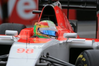 World © Octane Photographic Ltd. Manor Marussia F1 Team MR03 – Roberto Merhi. Thursday 21st May 2015, F1 Practice 2, Monte Carlo, Monaco. Digital Ref: 1274LB1D4079