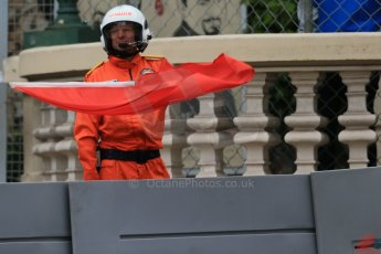 World © Octane Photographic Ltd. Red Flag. Thursday 21st May 2015, F1 Practice 2, Monte Carlo, Monaco. Digital Ref: 1274LB1D4104