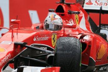 World © Octane Photographic Ltd. Scuderia Ferrari SF15-T– Sebastian Vettel. Thursday 21st May 2015, F1 Practice 2, Monte Carlo, Monaco. Digital Ref: 1274LB1D4193