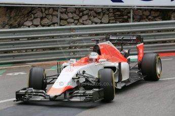 World © Octane Photographic Ltd. Manor Marussia F1 Team MR03 – William Stevens. Thursday 21st May 2015, F1 Practice 2, Monte Carlo, Monaco. Digital Ref: 1274LB5D2990