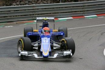World © Octane Photographic Ltd. Sauber F1 Team C34-Ferrari – Felipe Nasr. Thursday 21st May 2015, F1 Spanish GP Formula 1 Practice 2. Monte Carlo, Monaco. Digital Ref: 1274LB5D3022