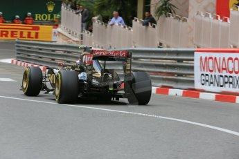 World © Octane Photographic Ltd. Lotus F1 Team E23 Hybrid – Pastor Maldonado. Thursday 21st May 2015, F1 Practice 2, Monte Carlo, Monaco. Digital Ref: 1274LB5D3072