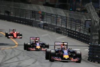 World © Octane Photographic Ltd. Infiniti Red Bull Racing RB11 – Daniil Kvyat. Sunday 24th May 2015, F1 Race, Monte Carlo, Monaco. Digital Ref: 1286LB1D8169