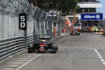 World © Octane Photographic Ltd. McLaren Honda MP4/30 - Jenson Button. Sunday 24th May 2015, F1 Race, Monte Carlo, Monaco. Digital Ref: 1286LB1D8397