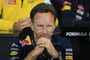World © Octane Photographic Ltd. Infiniti Red Bull Racing Team Principal – Christian Horner. Thursday 21st May 2015, FIA Team Personnel Press Conference, Monte Carlo, Monaco. Digital Ref: 1276LB1D4238
