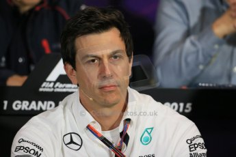 World © Octane Photographic Ltd. Mercedes AMG Petronas Executive Director – Toto Wolff. Thursday 21st May 2015, FIA Team Personnel Press Conference, Monte Carlo, Monaco. Digital Ref: 1276LB1D4283