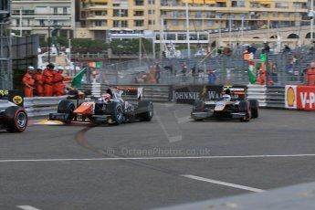 World © Octane Photographic Ltd. Thursday 21st May 2015. Trident – Raffaele Marciello and Hilmer Motorsport – Johnny Cecotto. GP2 Qualifying – Monaco, Monte-Carlo. Digital Ref. : 1275CB7D3748