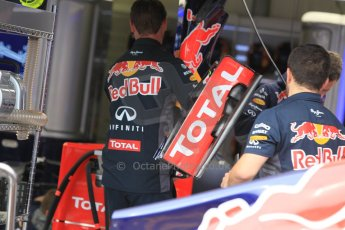 World © Octane Photographic Ltd. Infiniti Red Bull Racing RB11 – front wing. Thursday 21st May 2015, F1 Practice 1, Monte Carlo, Monaco. Digital Ref: 1272CB1L9475