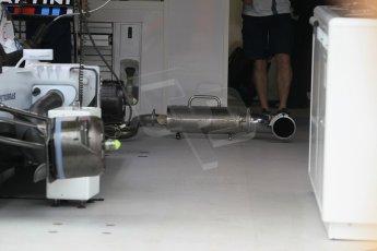 World © Octane Photographic Ltd. Williams Martini Racing FW37. Thursday 21st May 2015, F1 Practice 1, Monte Carlo, Monaco. Digital Ref: 1272CB1L9577