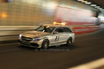 World © Octane Photographic Ltd. Mercedes C63 AMG Estate medical car. Thursday 21st May 2015, F1 Practice 1, Monte Carlo, Monaco. Digital Ref: 1272CB1L9619