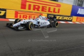 World © Octane Photographic Ltd. Williams Martini Racing FW37 – Valtteri Bottas. Thursday 21st May 2015, F1 Practice 1, Monte Carlo, Monaco. Digital Ref: 1272CB1L9661