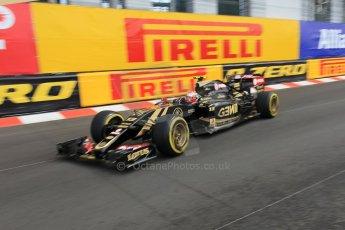 World © Octane Photographic Ltd. Lotus F1 Team E23 Hybrid – Pastor Maldonado. Thursday 21st May 2015, F1 Practice 1, Monte Carlo, Monaco. Digital Ref: 1272CB1L9679