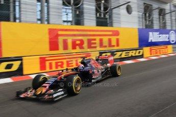 World © Octane Photographic Ltd. Scuderia Toro Rosso STR10 – Max Verstappen. Thursday 21st May 2015, F1 Practice 1, Monte Carlo, Monaco. Digital Ref: 1272CB1L9684