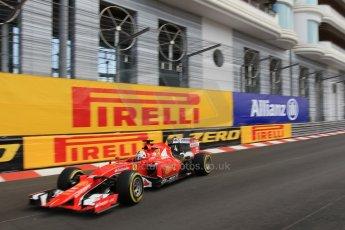 World © Octane Photographic Ltd. Scuderia Ferrari SF15-T– Sebastian Vettel. Thursday 21st May 2015, F1 Practice 1, Monte Carlo, Monaco. Digital Ref: 1272CB1L9700